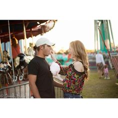 Engagement pictures at the fair! couple pictures ❤ liked on Polyvore featuring couple