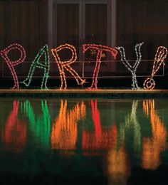 There's no question it's a party with our exclusive Lighted Party Sign.