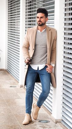 Men Winter Fashion 825425437934104760 - 5 Ways To Layer Your Long Coat This Winter Source by jonathanddray Mens Fashion Blog, Fashion Mode, Mens Fashion Suits, Fashion Clothes, Fashion Shirts, Style Fashion, Fashion Boots, Winter Outfits Men, Stylish Mens Outfits