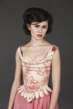 Raspberry toile stays with suede trim. Image copyright Jade Starmore Corset by Crikey Aphrodite Jeanne Lanvin, Aphrodite, 18th Century Costume, Lace Tights, Textiles, Facon, Pink Fashion, Dress Up, Style Inspiration