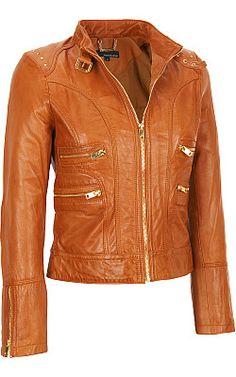 Wilsons Leather Jacket Purple Metallic Women&39s Large Vtg Modern