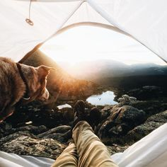 Pack a bag, yell for the dog, hike up a  mountain and pitch a tent, so you can wake up with a view like this. | PNW life |