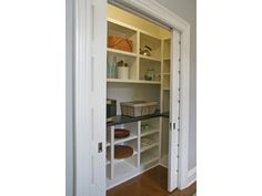 pantry shelving 69 Ideas small walk in closet remodel pantry ideas for 2019 Pantry Shelving, Pantry Storage, Kitchen Storage, Diy Storage, Kitchen Pantry Design, New Kitchen, Kitchen Pantries, Small Kitchen Pantry, Kitchen Ideas