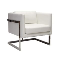 Information: Worlds Away Macallen Lounger Chair  Features: World Away Macallen lounger chair features polished stainless steel with a caramel colored bicast or