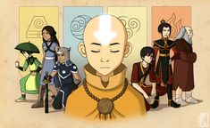Aang and Tenzin - Avatar The Last Airbender / The Legend of Korra Testing out some new styles, and then suddenly father and son feels. The Last Airbenders