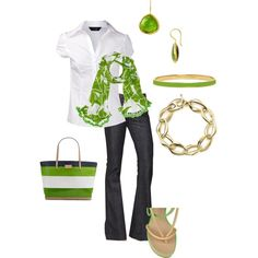 """Green"" by vintagesparkles78 on Polyvore"