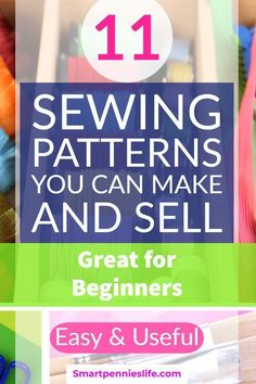 11 Useful Easy sewing patterns you can make and sell (Beginners Sewing Projects) - šití - Sewing Samples Easy Sewing Patterns, Easy Sewing Projects, Sewing Projects For Beginners, Sewing Hacks, Sewing Tutorials, Sewing Crafts, Sewing Tips, Diy Projects, Diy Crafts