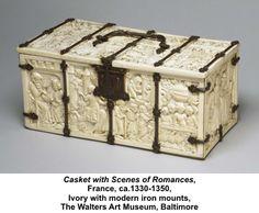 Ivory casket. France 1330-1350