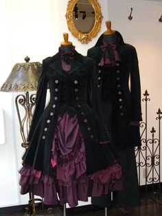 spookyloop:  ladyelowen:  Atelier Boz  Paging gothiccharmschool, I think something's missing from your closet…  ::swoons::Dear Infamous BlueJay, I don't suppose you have time to make an outfit for me, do you?