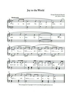 Joy to the World Free Piano Music