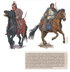 Magyar (left) and Vlach (right) Cavalrymen Early Middle Ages, Through Time And Space, Fantasy Fiction, Moldova, Dark Ages, Barbarian, 15th Century, Renaissance, Armour