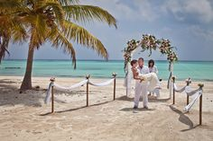 elopement arch in punta cana