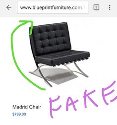 Buyer Beware: Blueprintfurniture.com Sells Fake Designer Rip Offs. Get The  Real Ludwig