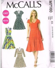 McCall's M7160, Sewing Pattern, Misses' Dress and Tops, Size Lrg, Xlg, XXl by OhSewWorthIt on Etsy