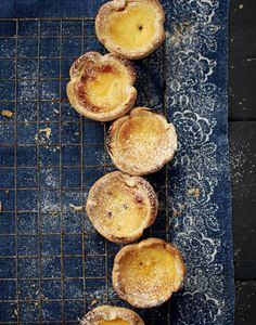 Passion-fruit custard tarts