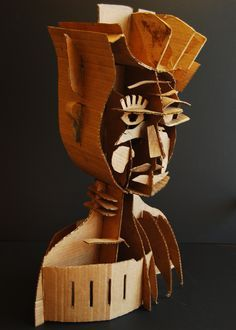 Naum Gabo inspired cardboard sculpture. lesson I did at Cheltenham High School