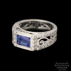 Platinum Tanzanite & Diamond ring, Cathy Carmendy