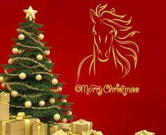 Housewares Vinyl Decal Merry Christmas Words Holiday Horse Animal Home Wall Art Decor Removable Stylish Sticker Mural Unique Design for Any Room Decal House http://www.amazon.com/dp/B00FWNF16I/ref=cm_sw_r_pi_dp_jUPUtb1M41FBRMQ0