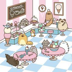 Pusheen : Comics Archives - Page 4 of 32 - Pusheen Kawaii Doodles, Cute Kawaii Drawings, Cute Doodles, Cute Animal Drawings, Gato Pusheen, Pusheen Love, Nyan Cat, Kawaii Cat, Kawaii Wallpaper