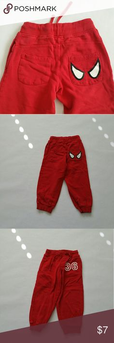 Spiderman sweatpant Spiderman sweatpant   Good condition H&M Bottoms Sweatpants & Joggers