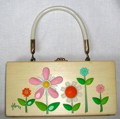 "ENID COLLINS Vintage Box Bag   ""Flora"""