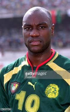 Football 2002 World Cup Qualifier African Second Round Group A Yaounde 25th February 2001 Cameroon 1 v Zambia 0 Cameroons Patrick Mboma