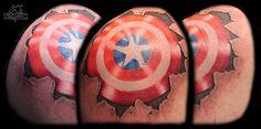 bltnyc, Carlos, Captain America's -Shield -stars & stripes