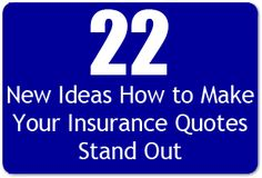 How to Make Your Insurance Quotes Stand Out - 22 New Ideas - Insurance Agency Sales and Marketing Ideas - Buy Life Insurance Online, Life Insurance Premium, Life Insurance Agent, Whole Life Insurance, Life Insurance Quotes, Term Life Insurance, Life Insurance Companies, Pet Insurance, Health Insurance