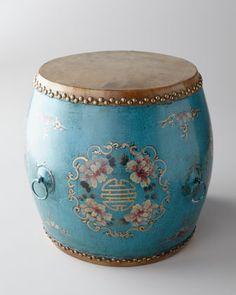 Vintage Drum, Blue - Horchow