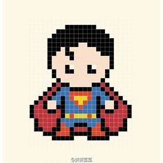 Perler bead Superman