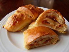 Vegetarische Schinken-Käse Hörnchen #rezept #recipe #vegetarisch #vegetarian #veggie
