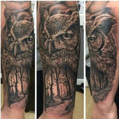 Bad ass owl tattoo