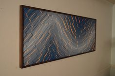 wood wall art The Old Man And The Sea 60x24 por StainsAndGrains