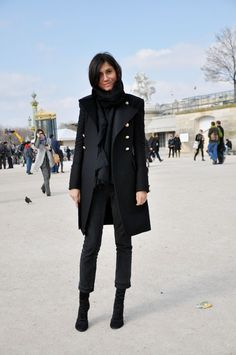 This woman's (Emmanuelle Alt) style is amazing- i love when people mix fancy with casual and play with proportion