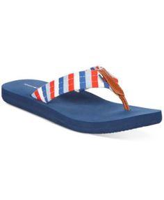 TOMMY HILFIGER Tommy Hilfiger Conchita Flip-Flop Sandals. #tommyhilfiger #shoes # all women