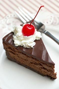 Receita Cheesecake incrível Triplo Chocolate