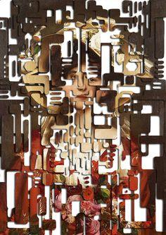 """Portrait of Elga / Hardcut"" by Matthieu Bourel. Art Print / Mini (8"" x 10"")"
