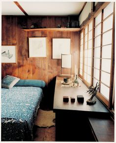 George Nakashima bedroom | Photo Leslie Williamson, Handcrafed Modern