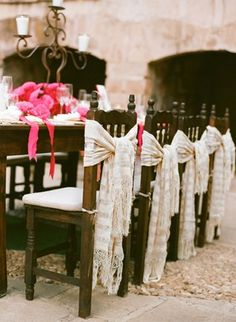 Chair Wrap :  wedding chair chair cover chair wrap chaircover diy ivory pink purple reception white wrap IMG 3726