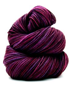 Hand Dyed Yarn - Superwash Merino Cashmere Nylon, Twisted MCN Sock Yarn in Syrah - Preorder.