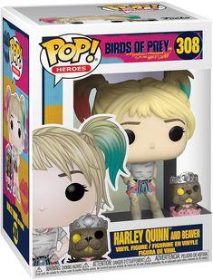 Funko 44378 POP Heroes: Birds of Prey-Harley Quinn w/Beaver Collectible Figure, Multicolour, Standard Birds Of Prey, Black Canary, Gotham, Funk Pop, Funko Pop Dolls, Pop Figurine, Harley Quinn Comic, Dc Comics, Pop Toys