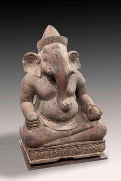 Buy online, view images and see past prices for Ganesh assis en Virasana. Invaluable is the world's largest marketplace for art, antiques, and collectibles. Korean Art, Asian Art, Shiva, Angkor Vat, Bracelet Bras, Khmer Empire, Ganesha Art, Stone Sculpture, Western Art
