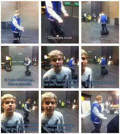 Luke Hemmings takes a ride on Niall's segway. Riding a segway has forever been my dream since I saw Paul Blart Mall Cop. 1d And 5sos, 5sos Luke, This Is Your Life, 5secondsofsummer, James Horan, Calum Hood, Luke Hemmings, One Direction, Direction Quotes