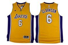 2f229435ba6 Los Angeles Lakers · Lakers 6 Jordan Clarkson Gold Swingman Jersey Size-XL  - http   weheartlakers