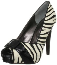 $90.25-$94.99 PARIS HILTON Women's Burke (Tan/Black Leopard 7.0 M) - Step with pride into the center of attention in these fabulous heels from Paris Hilton. Burke is a leopard print party pump covered in luxurious satin from heel to open toe. Burke's buckle detail and sky-high 1 1/4 inch hidden platform gives the vamp of the shoe an adorable rounded shape, while the black 4 1/2 inch stiletto heel  ...