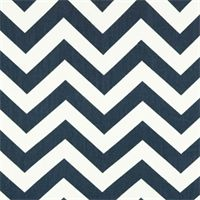 Zig Zag Blue/Twill by Premier Prints - Drapery Fabric