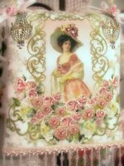 Victorian Lady Crystal Roses Sachets - Victorian Decor Sachets - Roses And Teacups  - 1