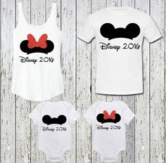 Matching Disney Mickey Minnie Inspired Family by TheBizziB on Etsy