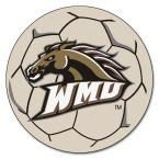 Ncaa Western Michigan University Cream (Ivory) 2 ft. 3 in. x 2 ft. 3 in. Round Accent Rug