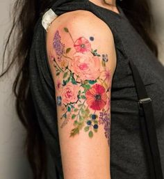 Flowers tattoo Here we have great picture about italian flower tattoo. We wish … - Inspirierende Tattoos Pretty Tattoos, Love Tattoos, Tattoo You, Beautiful Tattoos, Body Art Tattoos, New Tattoos, Vintage Floral Tattoos, Dragons Tattoo, Zealand Tattoo